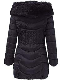 55821da01d6b MEIbax Mode Hiver Femmes Longue Veste Chaud Coton Slim Manteau Manteau  Trench Outwear Manteau à Capuche