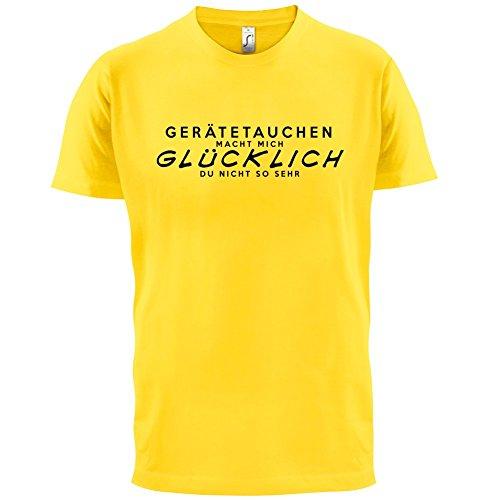 Gerätetauchen macht mich glücklich - Herren T-Shirt - 13 Farben Gelb