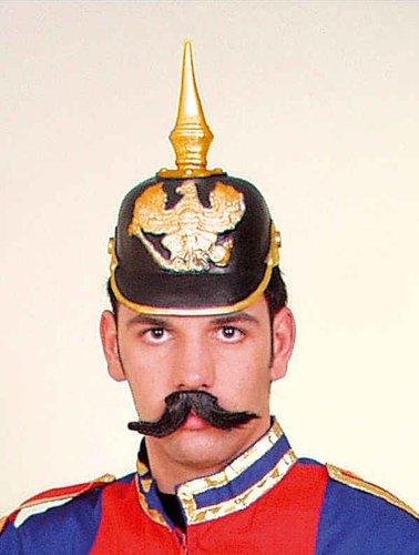 Helm Kostüm Pickelhaube - Orlob Pickelhaube Helm zum Kostüm zu Karneval Fasching