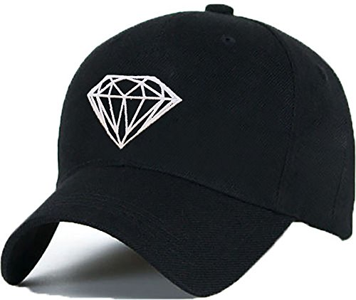 Bonnet Casquette Snapback Baseball DIAMOND YOUR MOM OMG 1994 Hip-Hop en Noir / Blanc avec les ASAP Bad Hair Day