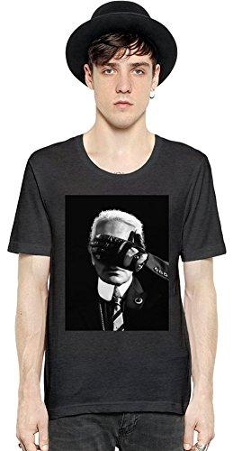 Karl lagerfeld fashion icon a maniche corte da uomo dark grey medium