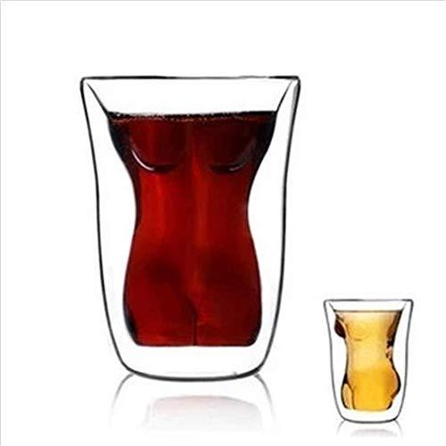 ATEZIEU Brillen für Männer und Frauen, Creative Durable Dual Layered Tumbler Mug/Shooters, Trinkbecher für Tequila Vodka Whisky Bier Espresso