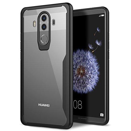 Huawei Mate 10 Pro Hülle, YT MARQUEEN Hard Case Transparent Ultra Slim Handyhülle PC Bumper Stoßsicheren Flexiblen Anti-Kratzer Schutzhülle Ultra Dünn Leicht Backcover für Huawei Mate 10 Pro - Schwarz