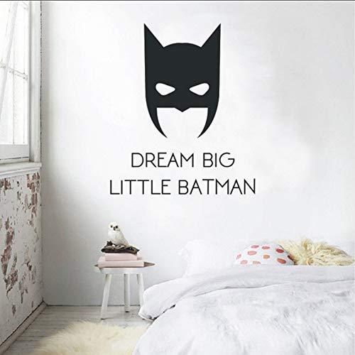 Wandtattoos Traum Große Kleine Batman Wandaufkleber Jungen Kindergarten Dekoration Film Poster Kinderzimmer Vinyl Tapete42 * 50 cm