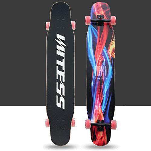 JIJIHAO Huabanche Skateboard Flash Wheel Kind Erwachsene Allrad Skateboard Double Rocker Fashion Brush Street Freizeit Roller (Color : G, Size : 120X25X12CM) (G Schocks Roller)