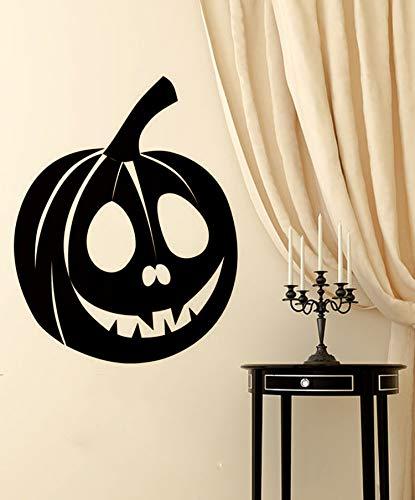 kleber Halloween-Reihe Kürbis Kreative Geschnitzte Papier Entfernbare Dekorative Aufkleber DIY Wanddekoration ()