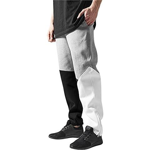 Urban Classics TB286 Zig Zag Sweatpants Pantalone tuta uomo XXL blk/gry