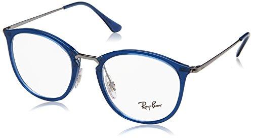 Ray-Ban Unisex-Erwachsene 0RX 7140 5752 51 Brillengestelle, Blau (Transparent Blue),