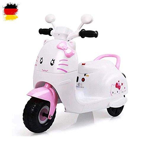 HSP Himoto Süßes Elektromotorrad Roller für Kinder im wunderschönem Design, 6V Powerakku und starkem Motor, Kinder-Motorrad mit Cooler Musikfunktion, max. Traglast ca. 20kg