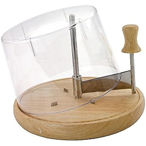 Formaggio pialla Girolle–tradizionale pialla per formaggio, con coperchio salva-freschezza, porta formaggi in Form (legno, acciaio inox, plastica). Romi Nox articolo pubblicitario–qualità di vita da regalare.