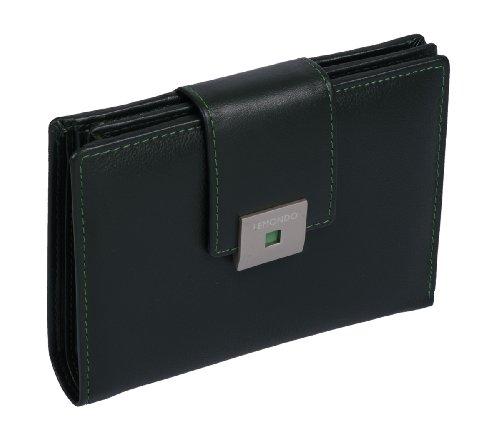 Portafoglio composto LEMONDO, Vera Pelle, 11x14x2,5cm Verde
