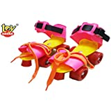 Toy Arena Dry Inline Start Learning Skate (Pink Color) UK Size 4 to 8 for Age Group 5 to 14 Years Old