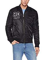 Jack & Jones Mens Nylon Jacket (12121306_Black_Medium)