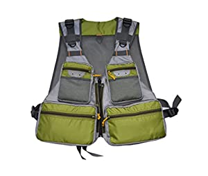 MDSTOP Fly Fishing Vest, Pockets Jacket, Outdoor Quick-Dry Net Vest, Fishing Hunting Waistcoat, Travel Photography Mesh Vest, Adjustable Size with 14 Pockets by MDSTOP