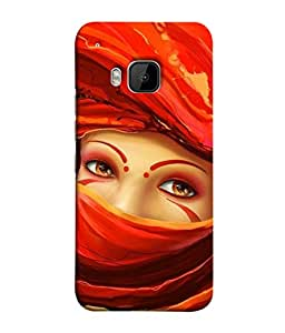 PrintVisa Designer Back Case Cover for HTC One M9 :: HTC One M9S :: HTC M9 (Artistic Design Lo Lady With Her Face Covered)