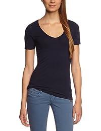 Garage Camiseta slim fit con cuello de pico de manga corta para mujer