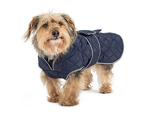 Ancol Muddy Paws Navy Quilted Dog Coat (Medium)