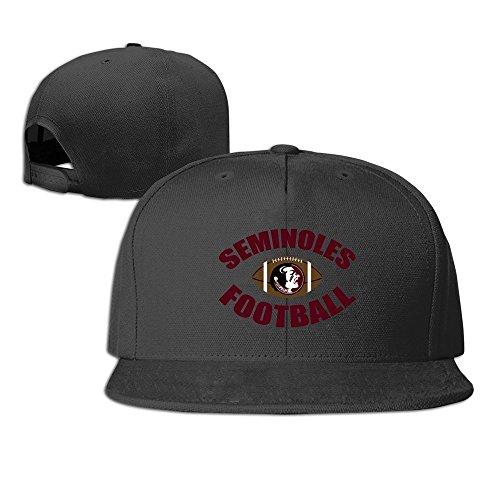 Hittings Florida State Seminoles Logo Football Unisex Fashion Cool Adjustable Snapback Baseball Cap Hat One Size Black
