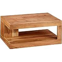 WOHNLING Couchtisch Massiv Holz Akazie 90 Cm Breit Wohnzimmer Tisch Design  Natur Produkt