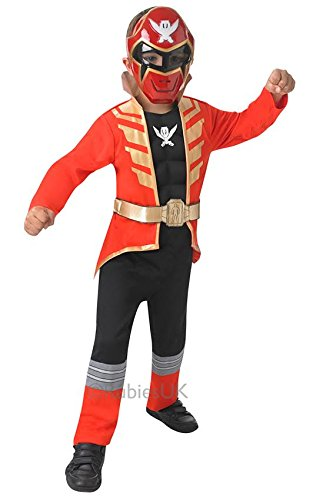 Rubies Red Super Megaforce Power Ranger Costume 3-4yrs