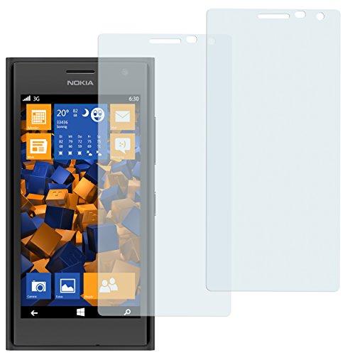 mumbi Schutzfolie kompatibel mit Nokia Lumia 730 / 735 Folie klar, Bildschirmschutzfolie (2x)