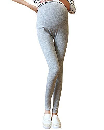 Yasminey Leggings Maternity Stretchy Slim Collant Chic Fit Giovane Tinta Unita Comodi Pantaloni A Matita Incinta (Color : Gr?ulich, Size : XL)