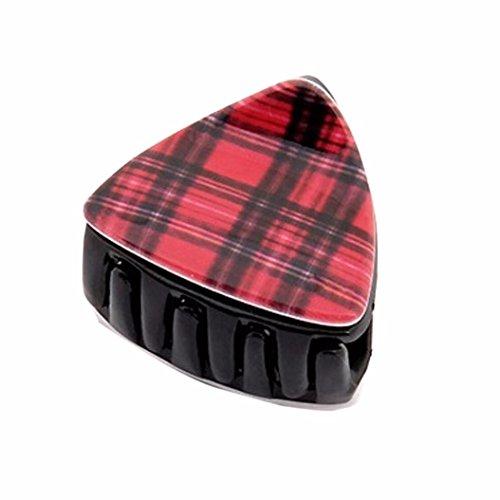 Haarklammern Oyedens MäDchen Orecchiette Leopard Plaid Haarfanghaarnadel ZubehöR Rot (Eisen Plaid)