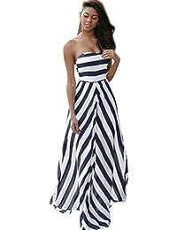 Yanhoo Moda Abito Gonna T-shirt sera allentata Vestito Abito Donna Elegante  Casual Spiaggia Dress ce22d613e92