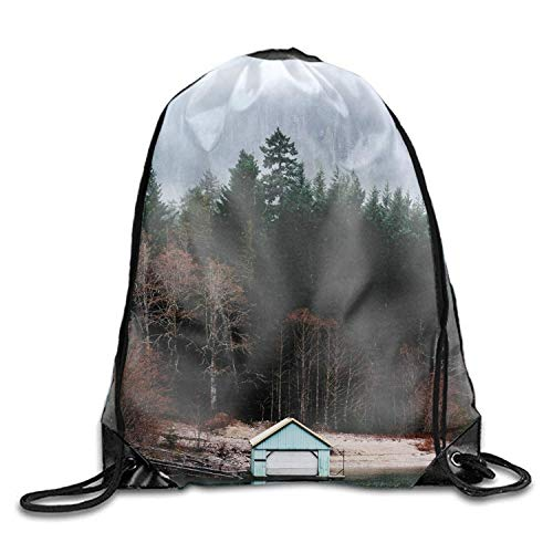 Washington Cascades (Nizefuture Seattle Washington North Cascades Diablo Lake Print Drawstring Backpack Sport Gym Bag Daypack)