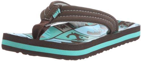 Reef AHI Kids Junior Flip Flops Sandals (UK 1/2, TEB Teal Brown)
