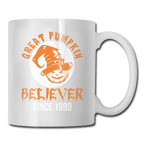 Daawqee Becher Coffee Mug 11oz Funny Cup Milk Juice Or Tea Cup Great Pumpkin Believer Since 1980 - 1980 Kostüm Männer