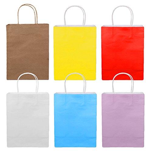Farbe Shopping Kraft Papier Taschen mit Behandeln für Partei Hochzeit Geburtstag Weihnachten Halloween Shop Geschenke Kleidung Handwerk Lebensmittelgeschäft Carrier Tasche (Halloween-papier-geschenk-taschen)