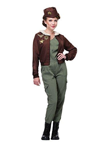 Offizier Frauen Der Kostüm - Fun Costumes Das Vintage Flug-Offizier-Kostüm der Frauen - L