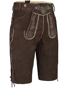 Gaudi-Leathers Herren Trachten Lederhose Shorts kurz mit Träger in verschiedenen Farben