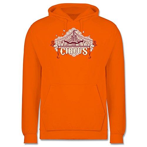 Statement Shirts - Circus - Männer Premium Kapuzenpullover / Hoodie Orange