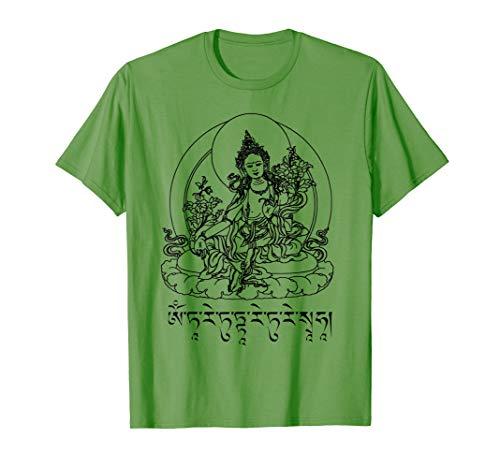 Göttin Grünen T-shirt (Buddha Green Tara Mantra Tibetan Buddhism Vajrayana  T-Shirt)