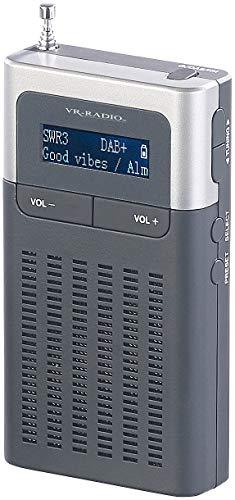 Digitale Sender (VR-Radio Digital Radio: Digitales DAB+/FM-Taschenradio, Lautsprecher, Wecker, LCD-Display, RDS (DAB Plus Radio))