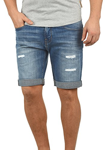 Indicode hallow - pantaloncini jeans da uomo, taglia:xxl, colore:blue wash (1014)