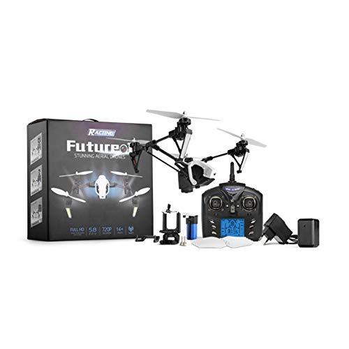 HONGIRT Wltoys Q333 Drone Deformación de Tres etapas Antena Cuatro Ejes Aeronave Transmisión de Imagen en Tiempo Real Drone FPV RC Helicopter, Blanco-Q333-A 1 * Batería