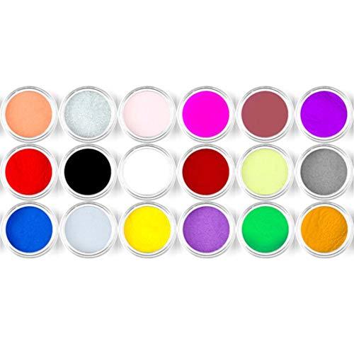 Hule Epoxid-Pigmente in 18 Farben, glänzender Glanz-Pailletten-Füller für Nägel, Farbe, Basteln - je 2,5 g