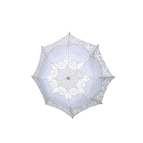 damai-shopSonnenschirm Spitze Spitze Sonnenschirm Regenschirm FüR Braut Brautjungfer Hochzeit Fotografie Prop, A, 38*31cm (Spitze Rüschen Sonnenschirm)