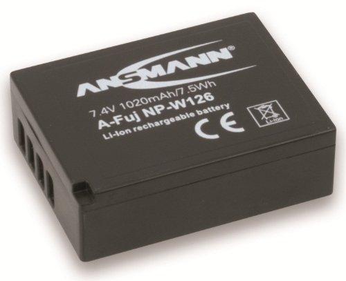 ANSMANN Li-Ion Akku A-Fuj NP-W 126 7,4V / Typ 1020mAh / Leistungsstarke Akkubatterie für Foto Digitalkameras - der perfekte Ersatzakku für Fujifilm Digicam uvm.