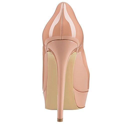 MERUMOTE - Scarpe con Plateau donna Nude-Patent