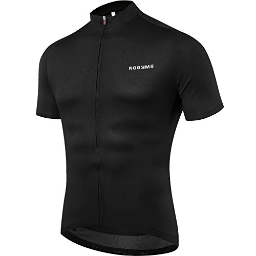 es Herren Fahrrad Trikot Kurz Ärmel Bike Shirt Atmungsaktiv Bedruckt Lange Ärmel Jersey Bike, Herren Jungen, N-1 Black, Large ()