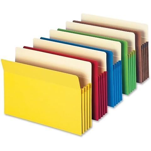 SMEAD Datei Tasche, gerade geschnittene Tab, 3–1/5,1cm Expansion, Letter-Format, verschiedene Farben, 5pro Pack (73892)