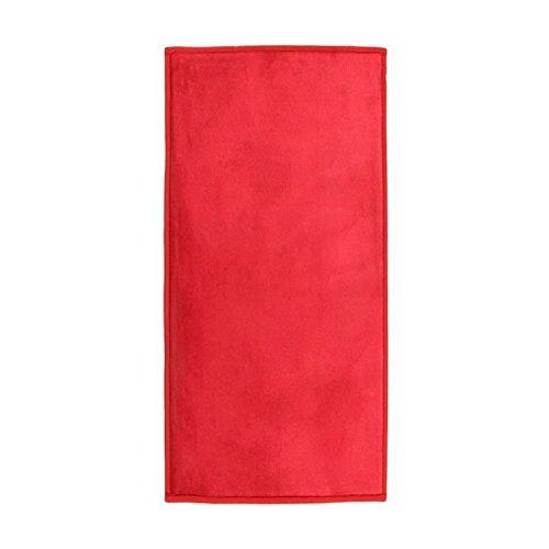 Monbeautapis alfombra rojo muy suave antideslizante rojo franela poliéster, poliéster, rojo, 120x60 cm