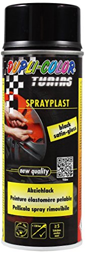 Dupli-Color 388040 DC Sprayplast Spray, 400 ml, Schwarz Satin Gloss