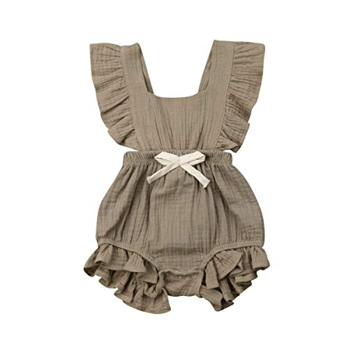 Kleinkind Baby Mädchen Junge Outfits Einfarbig Strampler Ärmellos Spielanzug Baby Toddler Baby Neugeborenes Kinderkleidung ()