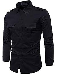 b3c9c33b0fbe FRAUIT Hemd Herren Militär Kampf Baumwolle Slim Fit Langarm Hemden Männer T- Shirt Business Freizeit