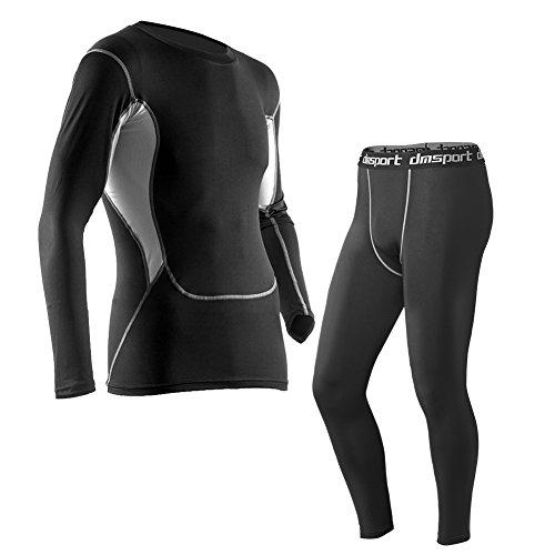 FITIBEST Herren Kompression T Shirt Funktions-T-Shirt Top&Kompressions Leggings Base Layer Basic Unterwäsche Fitness 8